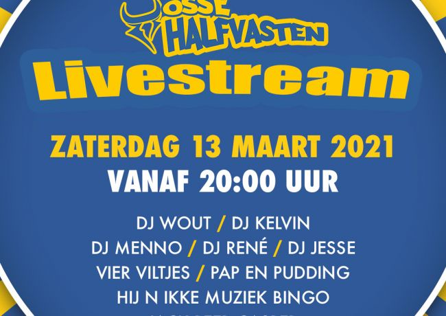 Osse halfvastenfeest via livestream