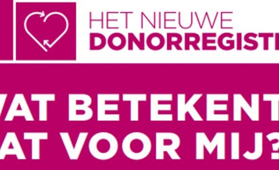 Informatiebijeenkomst nieuwe donorwet